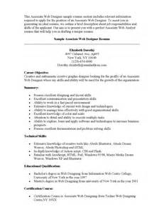 Graphic Design Resume Objective by Sle Resume For Graphic Designer