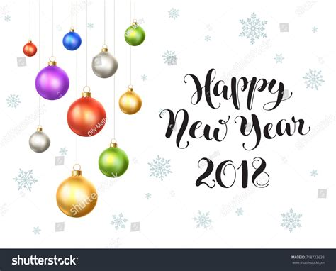 new year template 2018 happy new year 2018 postcard template stock vector