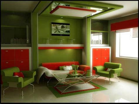 great art decoration modern green living room