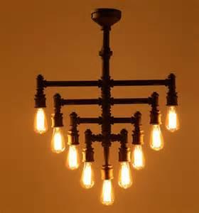 industrial chandelier lighting industrial steunk chandelier lighting iron pipe edison