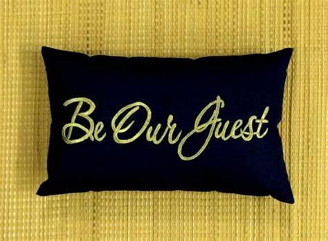 Guest Pillow 20 Be Our Guest Pillow Cushion Lumber Embroidered