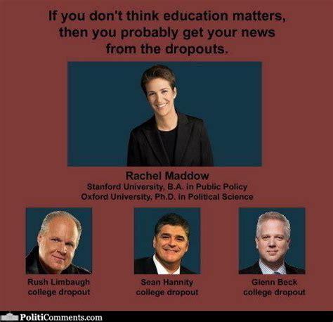 Rachel Maddow Meme - political memes education matters rachel maddow vs