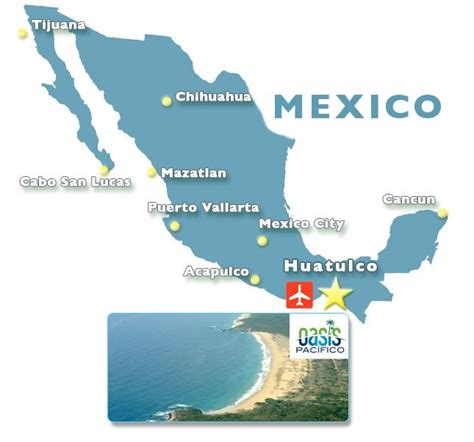 map mexico airports location own mexico