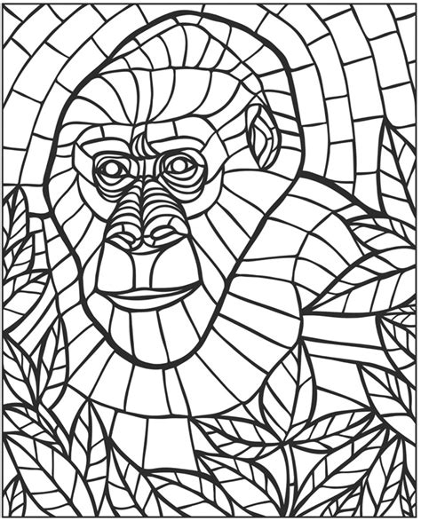 mosaic coloring books free coloring pages of mosaic animals