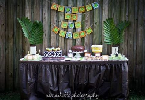 jungle theme baby shower table decorations jungle theme baby shower baby shower ideas themes