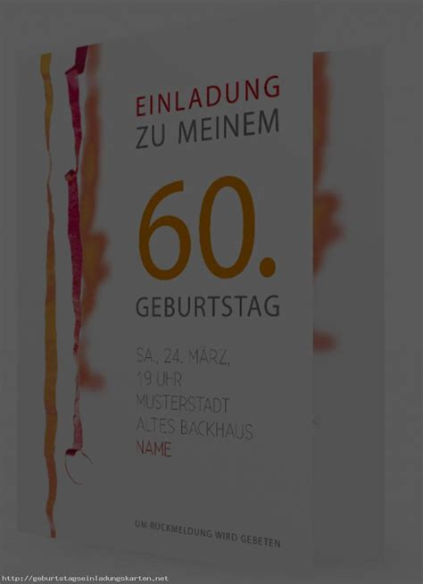 Kostenlose Vorlage Einladung 60 Geburtstag 60 Geburtstag Einladung Einladungen Geburtstag