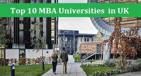 Best Schools In Usa For Mba by Top 10 Mba Universities In Uk Names Of Business Schools