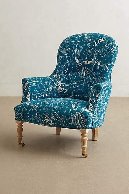 printed parker armchair anthropologie decorations tree