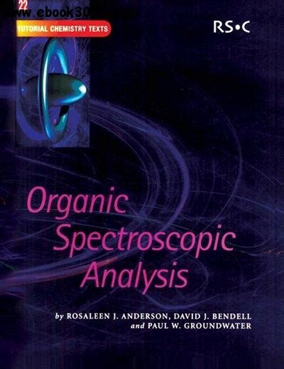 spectroscopic methods in organic chemistry ebook organic spectroscopic analysis free ebooks download
