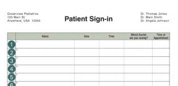 Doctors Sign In Sheet Template by Office Supplies