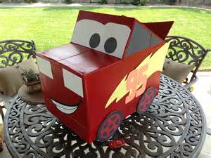Lighting Mcqueen Car Box How To Make Lightning Mcqueen From A Cardboard Box Gifts