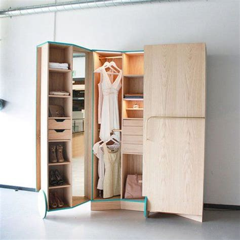 stylish walk in closet expands for small spaces