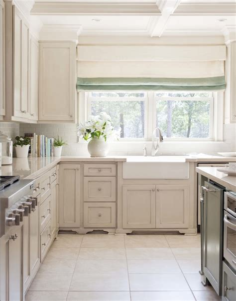 kitchen off white cabinets silestone countertops transitional kitchen tobi fairley