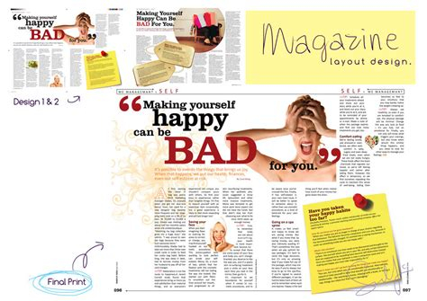 magazine layout html btec photography fanzine assignment task 1