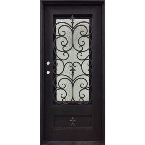 Fleur De Lis Decor by Iron Doors Unlimited 37 5 In X 81 5 In Orleans Classic 3