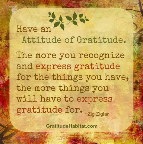 Zig Ziglar Thank You Letter gratitude habitats and attitude of gratitude on