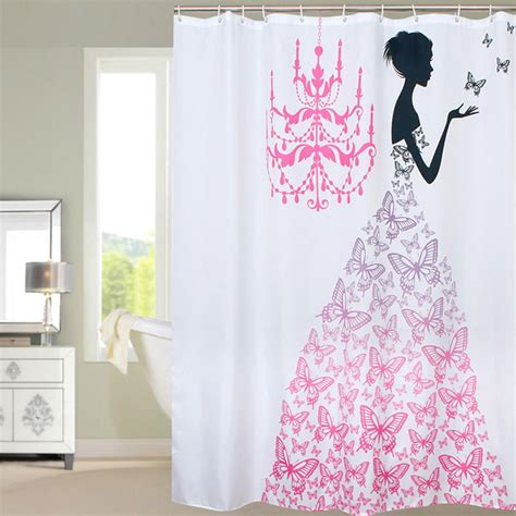 pink shower curtains fabric shower curtains pink reviews online shopping shower