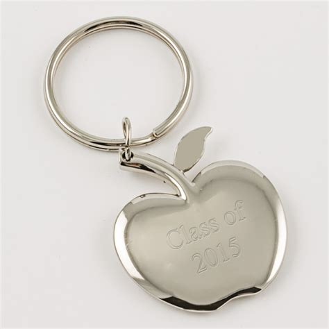 apple keychain 021594 silver apple keychain things engraved