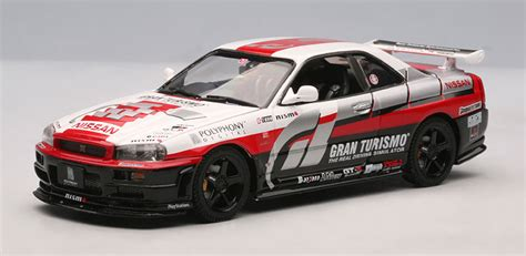 nissan gran turismo racing autoart 1 43 2002 nissan r34 granturismo version available