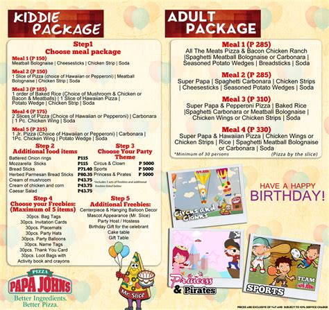 amazing jing  life papa johns   exciting kiddie party theme packages