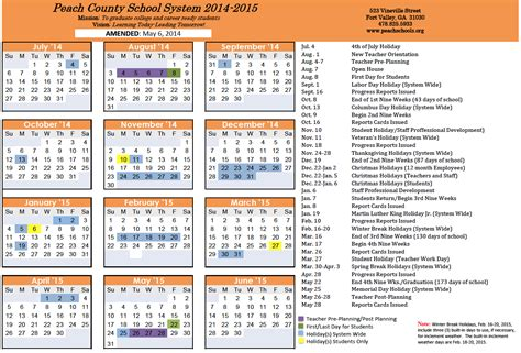 2014 2015 academic calendar template sugar creek students perform during program