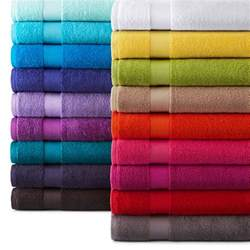 colored bath towels jcpenney home solid bath towels