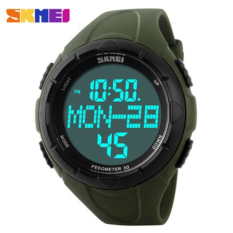 skmei luxury brand sports watches digital led quartz
