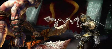 google imagenes de mortal kombat kratos slashes into mortal kombat