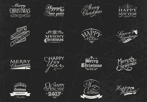 new year label vector chalk weihnachten und neujahr label brushes psd