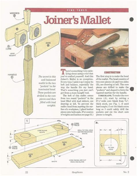 Woodworking Mallet Plans