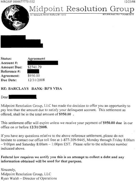 Letter To Bank For Education Loan Settlement Barclays Bank Sle Debt Settlement Letter Leave Debt