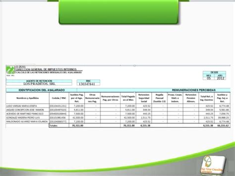 pago y retencion de dividendos dgii comunidad de ayuda impuesto sobre la renta rep dom