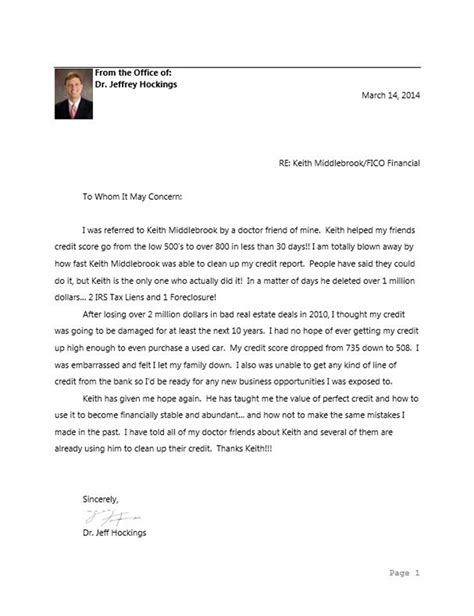 Thank You Letter To Doctor Keith Middlebrook Quot Thank You Quot Letter From Dr Hockings Dr Jeffrey Hockings