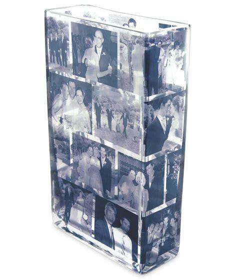custom brick memory vase photograph vase picture glass