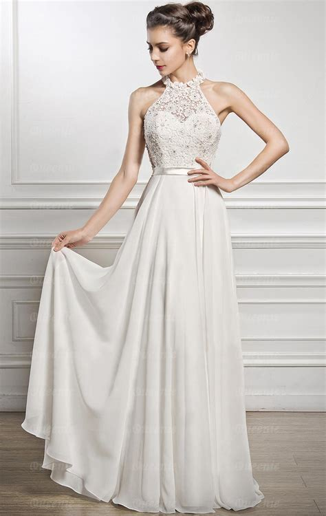 Online Long Ivory White Bridesmaid Dress BNNFF0006