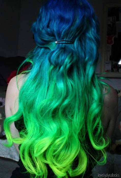 hair green blue mermaid ombre hair color most unnatural pinterest