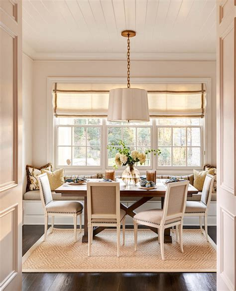 Design Ideas For Dining Room Banquette Banquette Window Seat Transitional Dining Room Carolina Design Associates