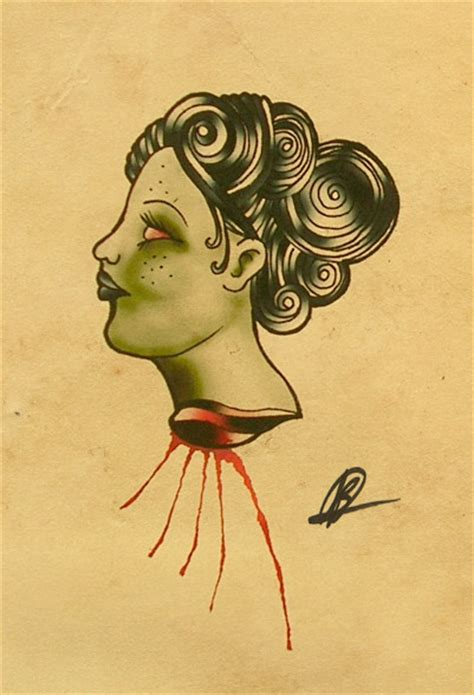 geisha tattoo neo traditional neo traditional geisha head by bern z on deviantart