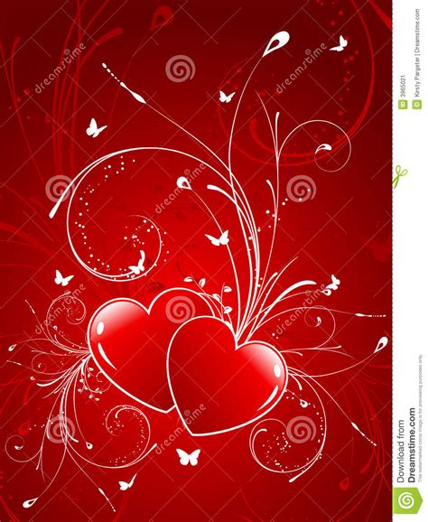 Decorative Hearts by Decorative Hearts Stock Image Image 3965021