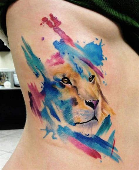 watercolor tattoos for females side tattoos cool water color side tattoos for