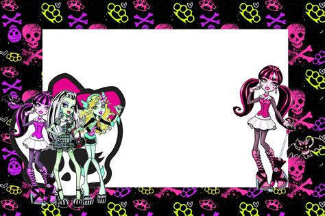 printable birthday cards monster high monster high free printable party invitations oh my