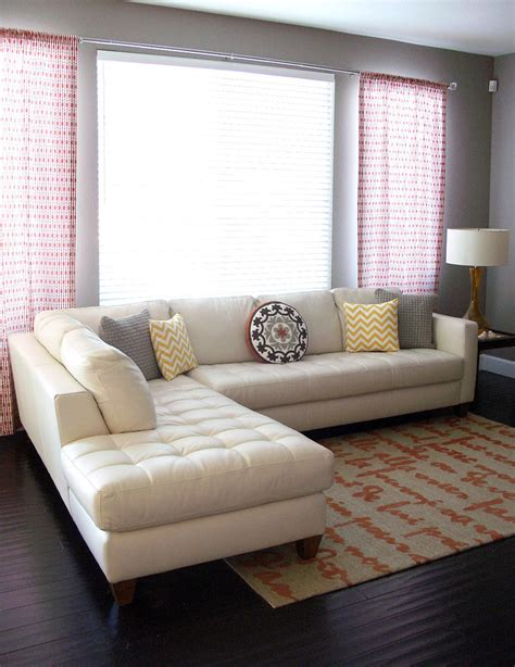 white sectional living room ideas white leather sectional living room contemporary with