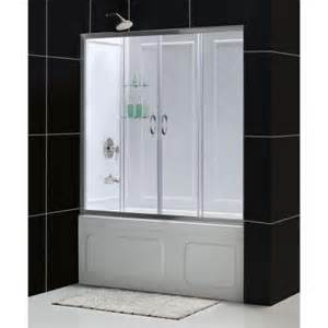 home depot tub shower doors dreamline visions 60 in x 60 in framed sliding tub