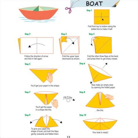 Folding Paper Boats That Float - how to fold an oragami boat nautical wax