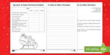 Ks1 Differentiated Letter To Father Christmas Writing Sle Christmas Letter To Santa Template Ks1