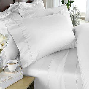 1000tc 4pc Sheet Set Solid Linens 1000 Thread Count Cotton 4pc