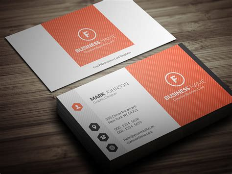 bright orange corporate business card template 187 free