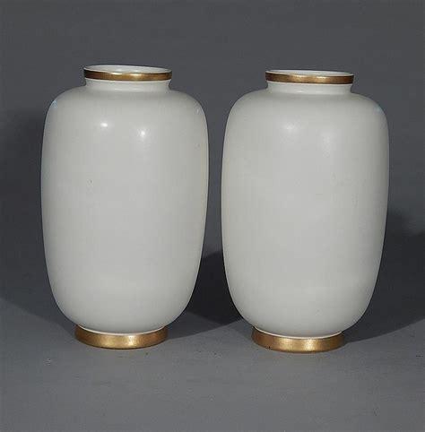 Hyalyn Pottery Vase by Pair Of Hyalyn Pottery Vases