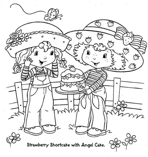 cake with a delicious strawberry coloring book pages 17 best images about coloring pages and printables on