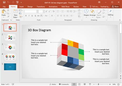 how to use a template in powerpoint 3d box diagram template for powerpoint